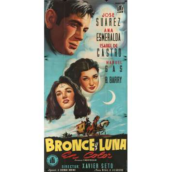 BRONCE ET LUNA Original Movie Poster 0 - 41x81 in. - 1953 - Javier Setó, Francisco Albiñana
