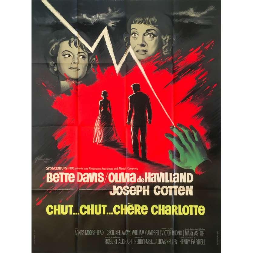 HUSH HUSH SWEET CHARLOTTE Original Movie Poster 0 - 47x63 in. - 1964 - Robert Aldrich, Bette Davis, Olivia de Havilland