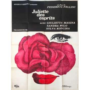 JULIETTE DES ESPRITS Affiche de film - 120x160 cm. - 1965 - Giulietta Masina, Federico Fellini