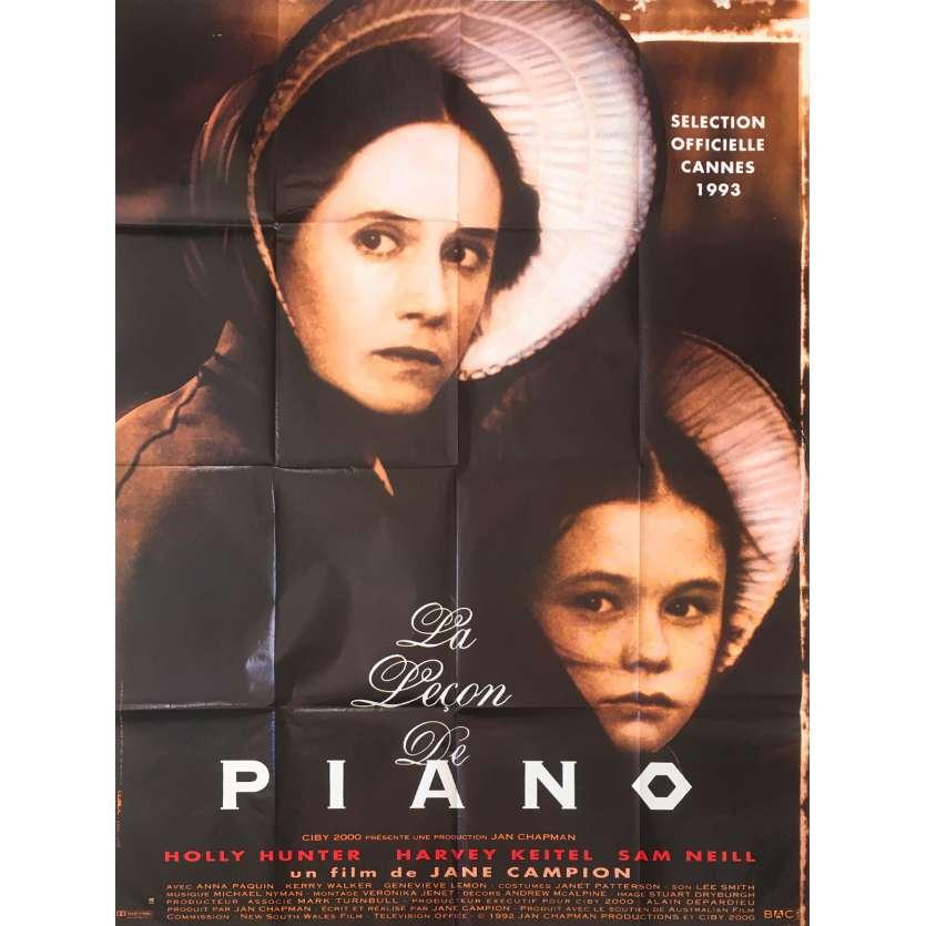 LA LEÇON DE PIANO Affiche de film - 120x160 cm. - 1993 - Holly Hunter, Harvey Keitel,, Jane Campion
