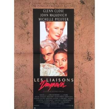 DANGEROUS LIAISONS Original Movie Poster - 15x21 in. - 1988 - Stephen Frears, John Malkovich