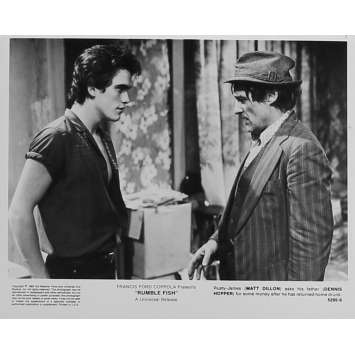 RUSTY JAMES Photo de presse 5295-9 - 20x25 cm. - 1983 - Matt Dillon, Francis Ford Coppola