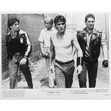 RUSTY JAMES Photo de presse 5295-4 - 20x25 cm. - 1983 - Matt Dillon, Francis Ford Coppola