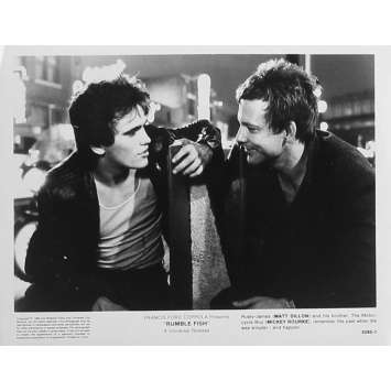 RUSTY JAMES Photo de presse 5295-1 - 20x25 cm. - 1983 - Matt Dillon, Francis Ford Coppola
