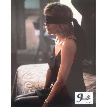 NINE 1/2 WEEKS Original Lobby Card N3 - 9x12 in. - 1986 - Adrian Lyne, Kim Bassinger