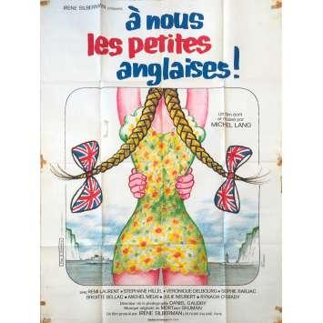 A NOUS LES PETITES ANGLAISES Affiche de film - 120x160 cm. - 1976 - Rémi Laurent, Michel Lang