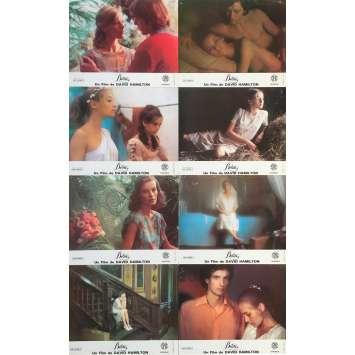 BILITIS Original Lobby Cards x8 - 10x12 in. - 1977 - David Hamilton, Bernard Giraudeau