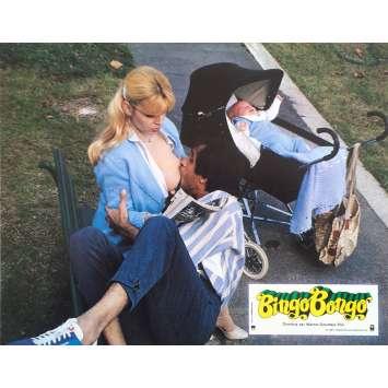 BINGO BONGO Original Lobby Card N1 - 9x12 in. - 1982 - Pasquale Festa Campanile, Adriano Celentano, Carole Bouquet