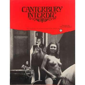 CANTERBURY INTERDIT Synopsis - 24x30 cm. - 1972 - Malisa Longo, Carlo Infascelli
