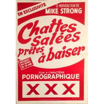 CHATTES SALEES PRETES A BAISER Affiche de film - 40x60 cm. - 1980 - Inconnu, Inconnu