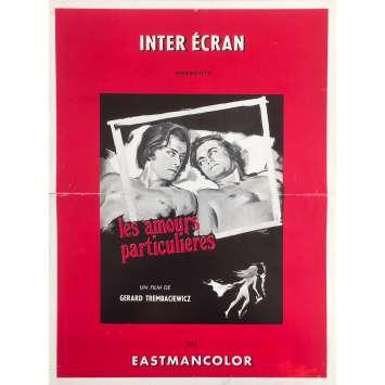 LES AMOURS PARTICULIERES Synopsis - 30x40 cm. - 1970 - Jacques Bernard, Gérard Trembasiewicz