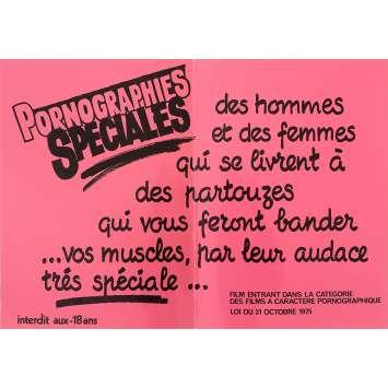 PORNOGRAPHIES SPECIALES Affiche de film Rose - 30x40 cm. - 1970'S - Inconnu, Inconnu