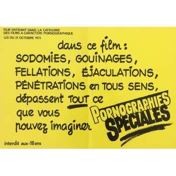 PORNOGRAPHIES SPECIALES Affiche de film Jaune - 30x40 cm. - 1970'S - Inconnu, Inconnu