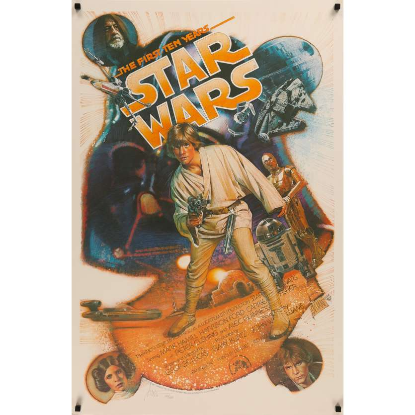 STAR WARS - A NEW HOPE US Signed Poster Killian 29x41 - 1987 - George Lucas, Rare!