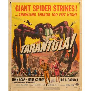 TARANTULA Original Movie Poster - 13,6x16,5 in. - 1955 - Jack Arnold, John Agar