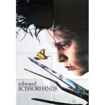 EDWARD SCISSORHANDS Original Movie Poster Style B - 27x41 in. - 1992 - Tim Burton, Johnny Depp