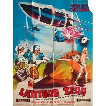 LATITUDE ZERO Affiche de film - 120x160 cm. - 1969 - Joseph Cotten, Cesar Romero, Ishirô Honda