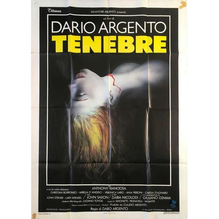 TENEBRE Original Movie Poster - 39x55 in. - 1982 - Dario Argento, John Saxon
