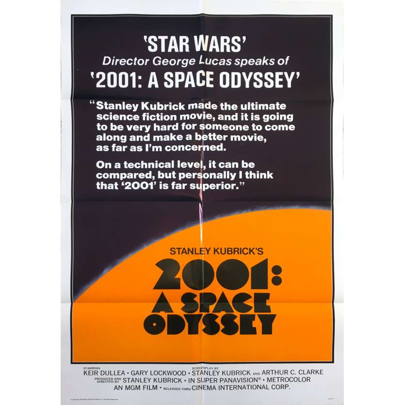 2001 A SPACE ODYSSEY Original Movie Poster Style A - 27x41 in. - 1968 - Stanley Kubrick, Keir Dullea