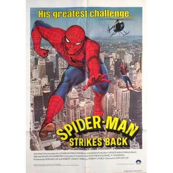 SPIDER-MAN STRIKES BACK Original Movie Poster - 27x41 in. - 1978 - Ron Satlof, Nicholas Hammond