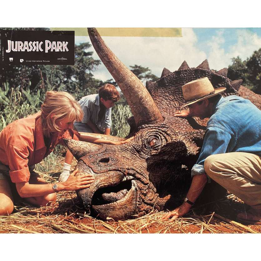 JURASSIC PARK Original Lobby Card N2 - 9x12 in. - 1993 - Steven Spielberg, Sam Neil