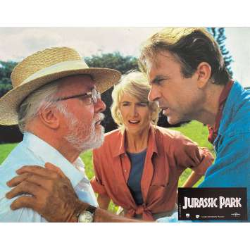 JURASSIC PARK Photo de film N4 - 21x30 cm. - 1993 - Sam Neil, Steven Spielberg