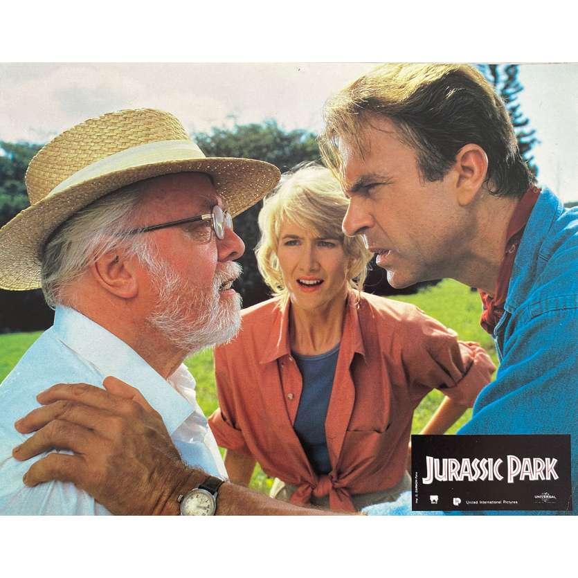 JURASSIC PARK Original Lobby Card N4 - 9x12 in. - 1993 - Steven Spielberg, Sam Neil