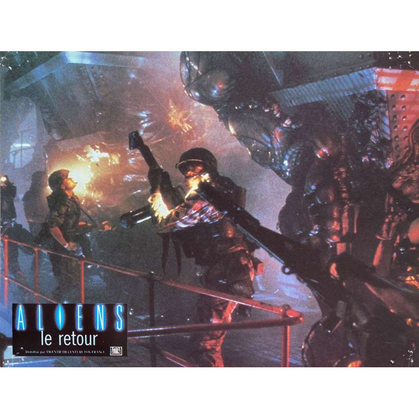 ALIENS Original Lobby Card N1 - 9x12 in. - 1986 - James Cameron, Sigourney Weaver