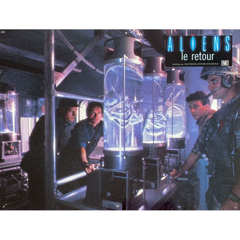 ALIENS Original Lobby Card N3 - 9x12 in. - 1986 - James Cameron, Sigourney Weaver