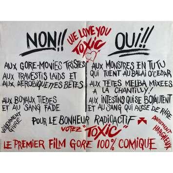 THE TOXIC AVENGER Original Movie Poster - 23x32 in. - 1984 - Lloyd Kaufman, Andree Maranda