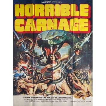 HORRIBLE CARNAGE Affiche de film - 120x160 cm. - 1978 - Lisa Pelikan, Brice Mack