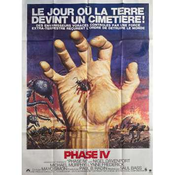 PHASE IV Original Movie Poster - 47x63 in. - 1974 - Saul Bass, Nigel Davenport