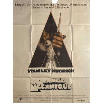 ORANGE MECANIQUE Affiche de film - 120x160 cm. - 1971 - Malcom McDowell, Stanley Kubrick