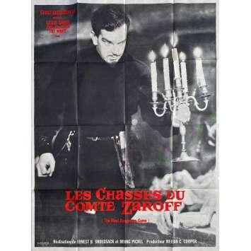 LES CHASSES DU COMTE ZAROFF Affiche de film - 120x160 cm. - R1970 - Fay Wray, Ernest B. Shoedsack