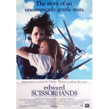 EDWARD SCISSORHANDS Original Movie Poster Style A - 27x41 in. - 1992 - Tim Burton, Johnny Depp