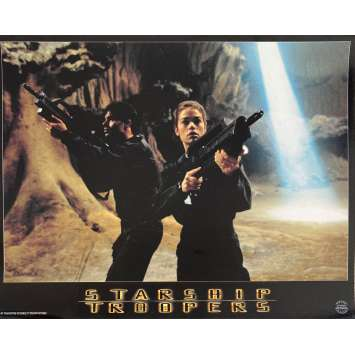 STARSHIP TROOPERS Original Lobby Card N1 - 9x12 in. - 1997 - Paul Verhoeven, Denise Richard