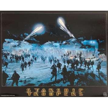 STARSHIP TROOPERS Original Lobby Card N4 - 9x12 in. - 1997 - Paul Verhoeven, Denise Richard