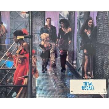 TOTAL RECALL Original Lobby Card N2 - 9x12 in. - 1990 - Paul Verhoeven, Arnold Schwarzenegger