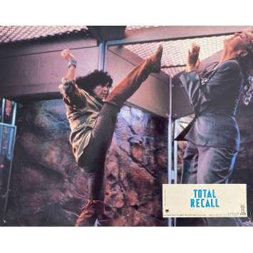 TOTAL RECALL Original Lobby Card N5 - 9x12 in. - 1990 - Paul Verhoeven, Arnold Schwarzenegger