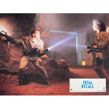 TOTAL RECALL Original Lobby Card N7 - 9x12 in. - 1990 - Paul Verhoeven, Arnold Schwarzenegger