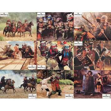 TEENAGE MUTANT NINJA TURTLES III Original Lobby Cards x6 - 9x12 in. - 1993 - Stuart Gillard, Elias Koteas