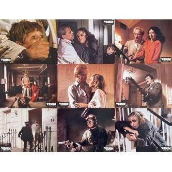 VENOM Original Lobby Cards x9 - 9x12 in. - 1981 - Piers Haggard, Klaus Kinski, Oliver Reed
