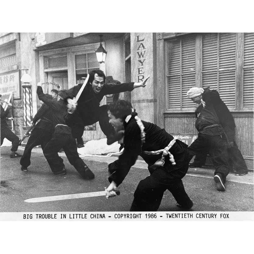 LES AVENTURES DE JACK BURTON Photo de presse N1 - 20x25 cm. - 1986 - Kurt Russel, John Carpenter