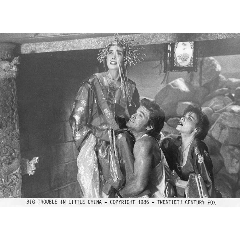 LES AVENTURES DE JACK BURTON Photo de presse N3 - 20x25 cm. - 1986 - Kurt Russel, John Carpenter