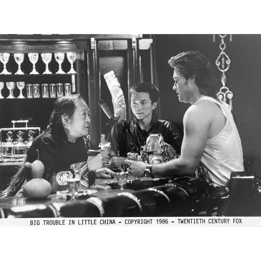 LES AVENTURES DE JACK BURTON Photo de presse N4 - 20x25 cm. - 1986 - Kurt Russel, John Carpenter