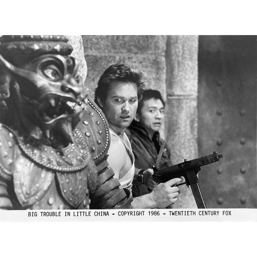 LES AVENTURES DE JACK BURTON Photo de presse N5 - 20x25 cm. - 1986 - Kurt Russel, John Carpenter