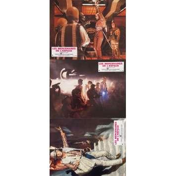 LES MERCENAIRES DE L'ESPACE Photos de film x3 - 21x30 cm. - 1980 - George Peppard, Robert Vaughn, Jimmy T. Murakami