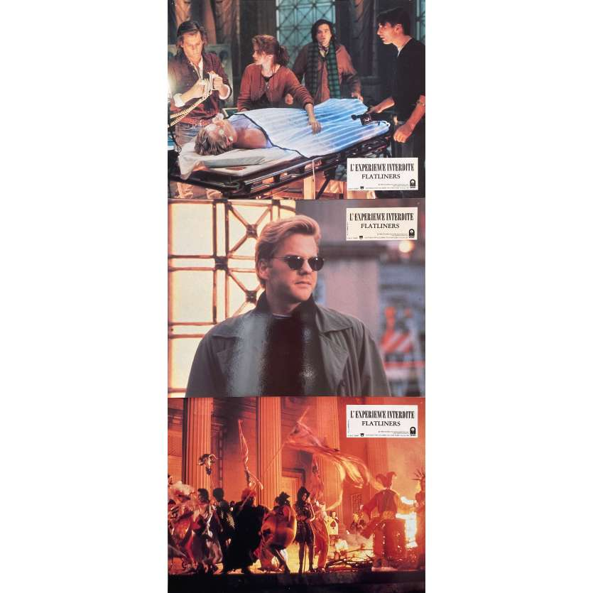 L'EXPERIENCE INTERDITE Photos de film x3 - 21x30 cm. - 1990 - Kiefer Sutherland, Joel Shumacher