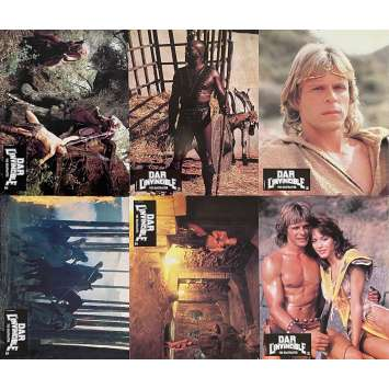 DAR L'INVINCIBLE Photos de film x4 - 21x30 cm. - 1982 - Marc Singer, Don Coscarelli