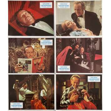OLD DRACULA Original Lobby Cards x7 - 9x12 in. - 1974 - Clive Donner, David Niven